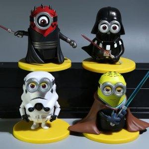 3D-Eye-Minions-Cosplay-Star-Wars-White-Soldiers-Jedi-Darth-Vader-Doll-Fashion-Cartoon-Minions-PVC