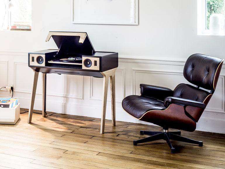 la bo te concept meuble sonore lp 160 et platine vinyle labo si paris. Black Bedroom Furniture Sets. Home Design Ideas